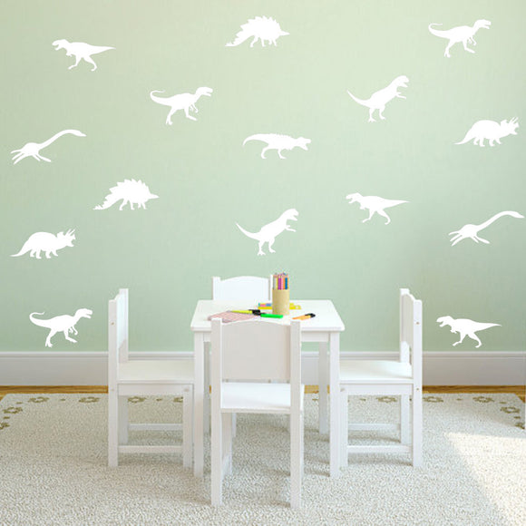 Variety Dinosaur Silhouette Wall Decal Set for Children