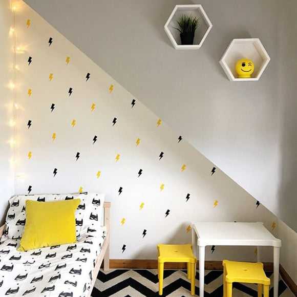 Lightning Bolt Wall Decal Sticker Set