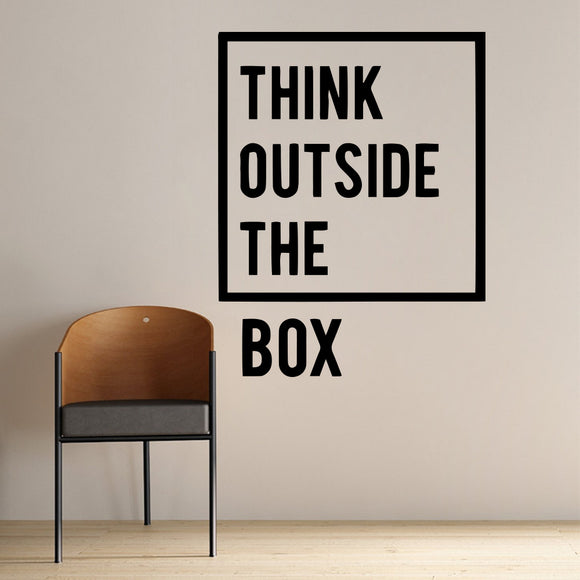 Think Outside the Box Wall Decal Sticker Set