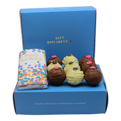 Happy Birthday Gourmet Cake Pop Gift Box