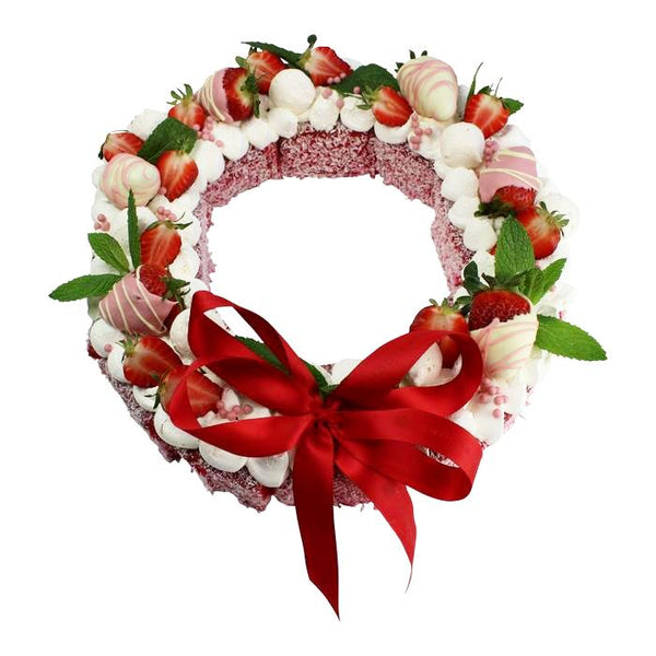 Lamington Christmas Wreath Cake