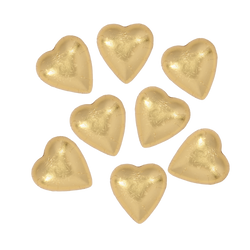 8 Gold Belgian Chocolate Hearts