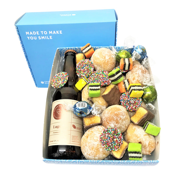 Lager Craft Beer and Donut Gift Box
