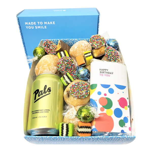 Happy Birthday Gin Pals and Donut Gift Box