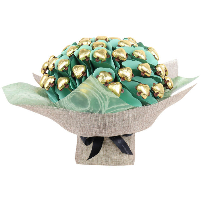 Luxury Golden Hearts Flower Bouquet