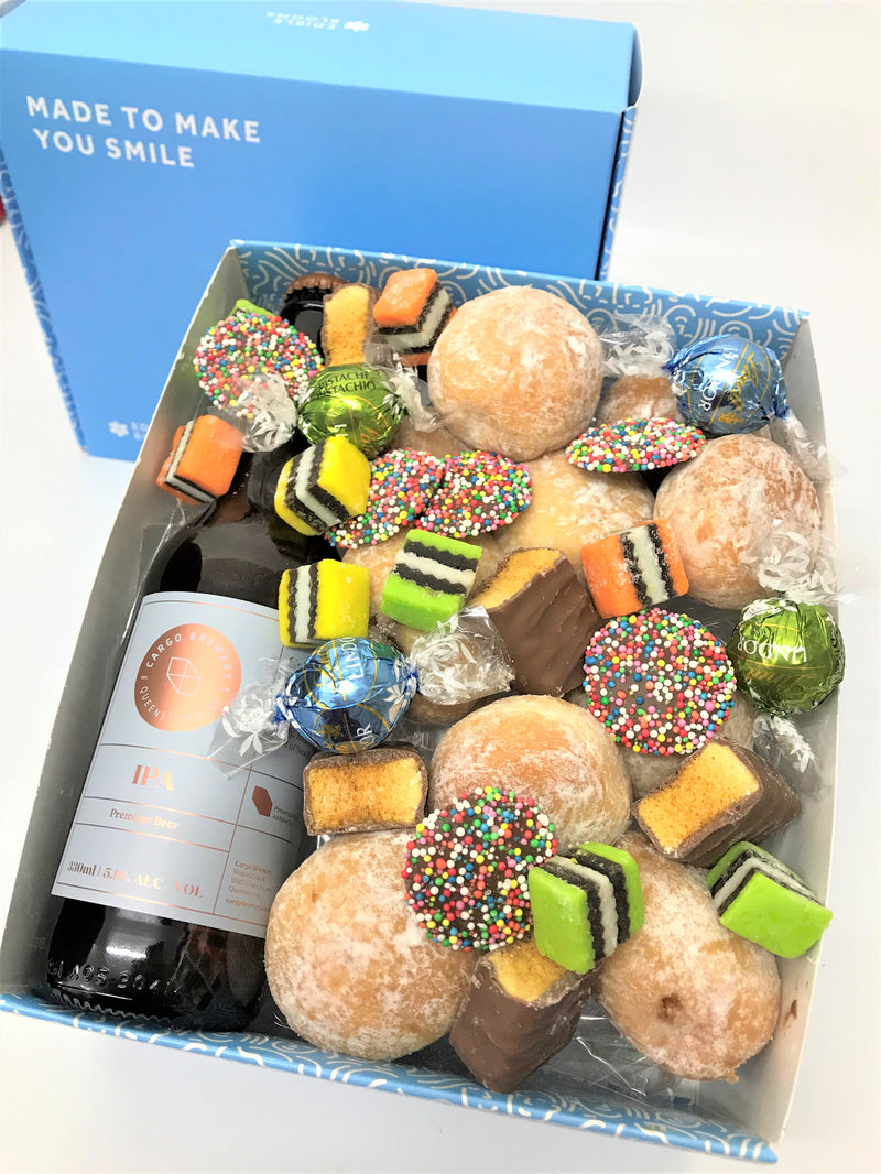 IPA Craft Beer and Donut Gift Box