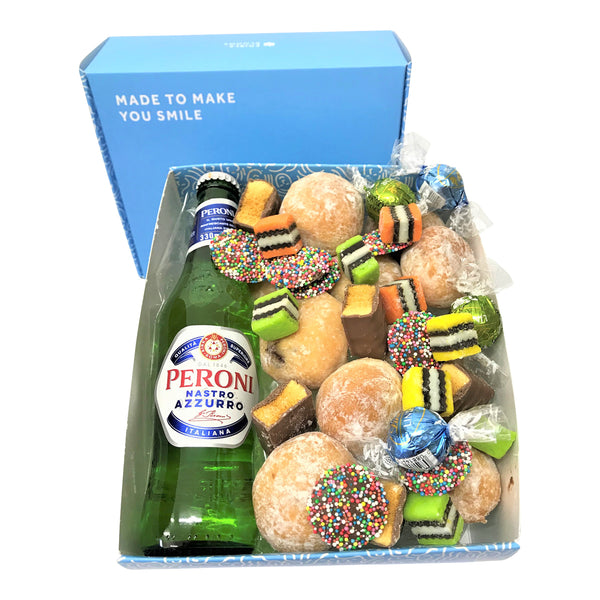 Peroni Beer and Donut Gift Box