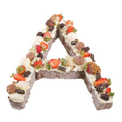 Letter 'A' Chocolate Lamington Birthday Cake