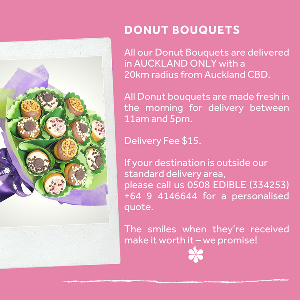 Blue Donut Bouquet - Auckland only