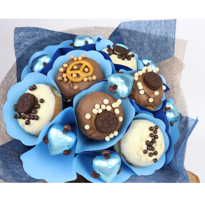 Blue Donut Bouquet