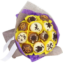 Bright Donut Bouquet Donut Gifts Gift Ideas Birthday Gifts Edible Blooms New Zealand