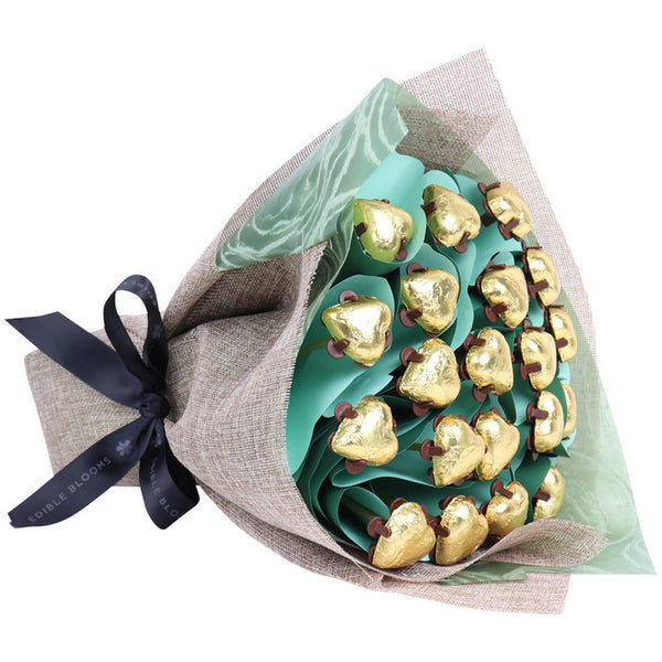 Golden Hearts Flower Posy