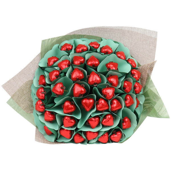Red Hearts Flower Bouquet