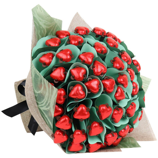 Luxury Red Hearts Flower Bouquet