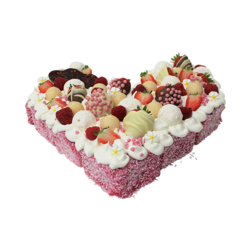 Heart Lamington Cake