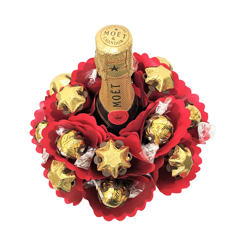 Mini Moet Chocolate Bouquet