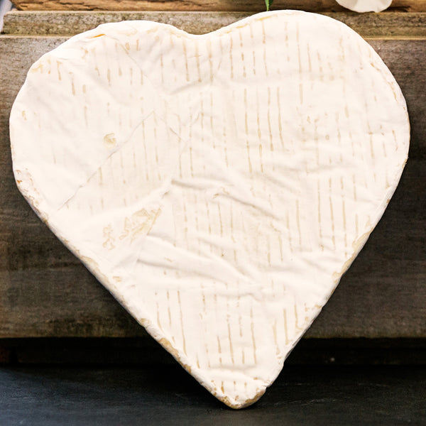 Heart Brie Cheese for Valentines
