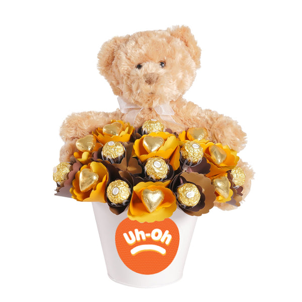 Uh-Oh Bear Hugs Chocolate Bouquet