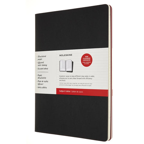 Cahier Subject A4 - Negro/Rojo