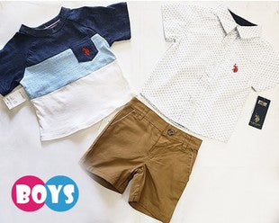 3-Piece Boys Shirt with Shorts