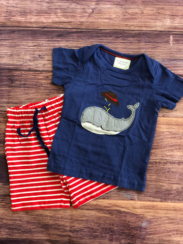 Whale Shirt with Shorts