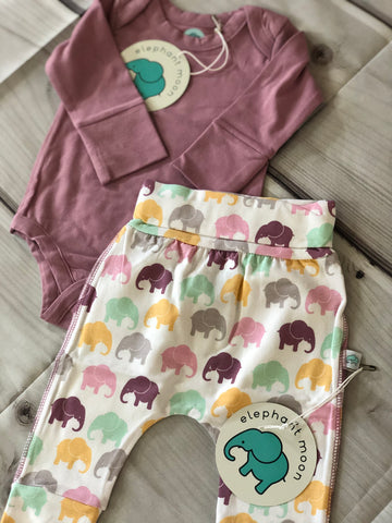 Grow with Me Elephant Pants Lavender