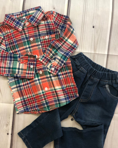 Flannel Shirt with Jeans