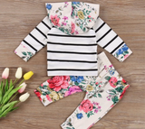 Floral Two Piece Hoodie