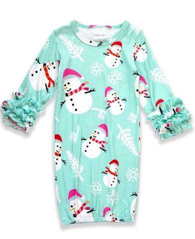Holiday Snowman Gown