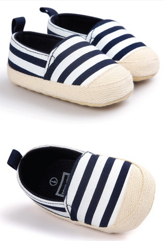Striped Crib Shoes