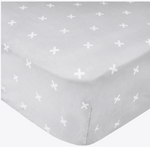 Cotton Fitted Crib Sheet- Slate