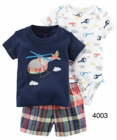 Helicoptor Shirt/Short Set