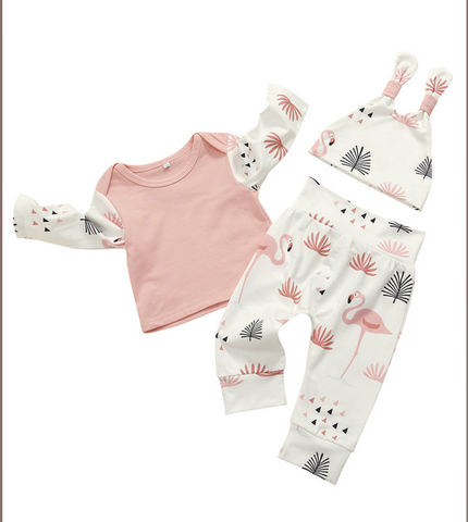 3-Piece Flamingo Set