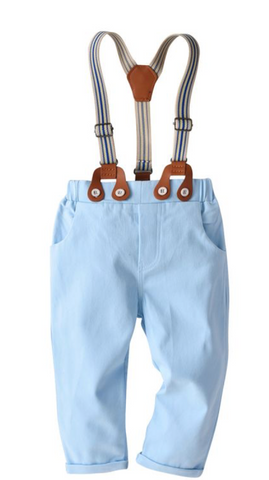 Blue Trousers with Removeable Suspenders