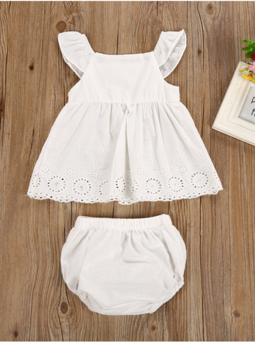 White Eyelet Dress with Bloomers