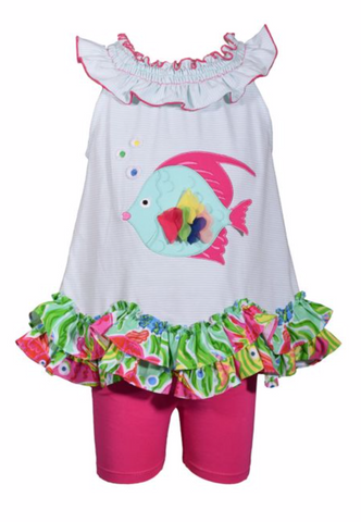 Fish Tunic with Pink Shorts