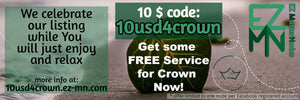 10$ voucher for Crown Nodes