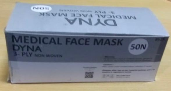 Dyna Medical Face Mask (3- Ply Non-Woven)