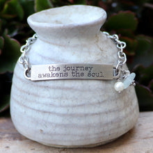 Load image into Gallery viewer, Inspirational Sea Glass Bracelet