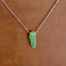Load image into Gallery viewer, Gorgeous Green Floating Sea Glass Pendant