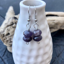 Load image into Gallery viewer, Purple Amethyst Earrings