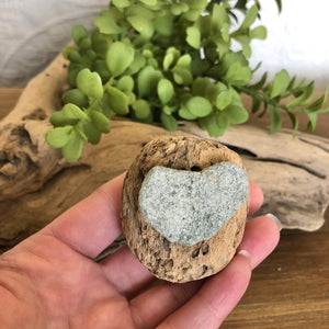 Natural Beach Stone and Driftwood Magnet