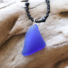 Load image into Gallery viewer, Gorgeous Simple Cobalt Blue Genuine Sea Glass Pendant