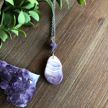 Load image into Gallery viewer, Gorgeous Wampum and Amethyst Pendant