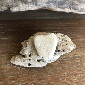 Natural Beach Stone and Driftwood Decoration Magnet