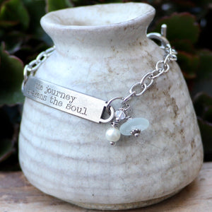 Inspirational Sea Glass Bracelet