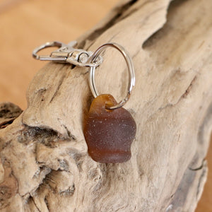 Bottle Head Genuine Seaglass Keychain