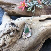 Load image into Gallery viewer, Gorgeous Abalone and Teal Seaglass necklace