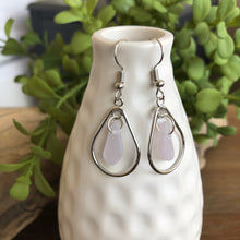 Load image into Gallery viewer, Rare Lavender Genuine Sea Glass Hoop Earrings