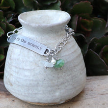 Load image into Gallery viewer, Inspirational Sea Glass and Aventurine Gemstone Bracelet